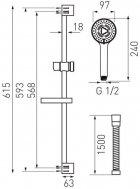 Набор смесителей FERRO ALGEO (BAG2+BAG1+N340) - изображение 4
