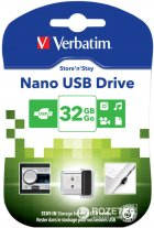 Verbatim Store 'n' Stay NANO USB Drive 32GB Black (98130) - зображення 2