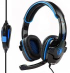 Наушники Sades SA-708 Stereo Gaming Headphone/Headset with Microphone Black/Blue (SA708-B-BL) - изображение 1