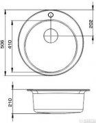 Кухонна мийка Granado Vitoria Marron (0106) + сифон одинарний для кухонної мийки Nova - зображення 6