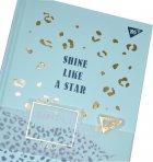 Блокнот-мотиватор YES Shine like a star серии Simpli City 130 х 185 мм 160 страниц Бирюзовый (151591) - изображение 5