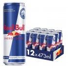 Упаковка энергетического напитка Red Bull 0.473 л х 12 банок (9002490212100) - изображение 1