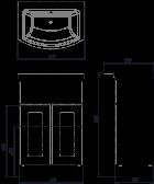 Тумба ВанЛанд Ірис Ірт 1-55 з умивальником Церсания 55 - зображення 2
