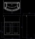 Тумба ВанЛанд Ірис Ірт 1-65 з умивальником Омега 65 - зображення 2