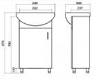 Тумба ЮВВИС Стандарт с умывальником Аква 45 см однодверная - изображение 3