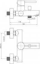Змішувач для ванни QTAP Spring CRM 006 - зображення 7