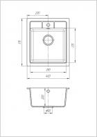 Кухонна мийка Galati Adiere Avena 501 (8674) - зображення 2