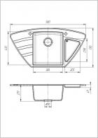 Кухонна мийка Galati Jorum 98B Teracota 701 (8472) - зображення 2