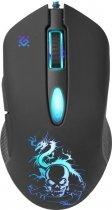 Миша Defender Sky Dragon з ігровою поверхнею GM-090L USB Black (52090) - зображення 1