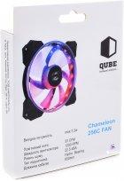 Вентилятор QUBE RGB Rainbow Chamelion 256C 120 мм 18 LED (QB-CHAMELION-120-18) - изображение 5