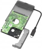 """Адаптер Maiwo для підключення HDD/SSD 2.5"""" SATA до USB3.1 Type-C Gen2 + контейнер захисний для HDD 2.5"""" (K104G2 black) - зображення 3"""
