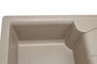 Кухонная мойка AQUAMARIN SPLIT 68-50 DSN Темный песок - изображение 3
