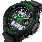 Чоловічі годинники Skmei S-Shock Green 0931 - изображение 3