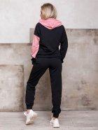 Спортивный костюм ISSA PLUS SA-112 S Черный с розовым (2001012267939) - изображение 3