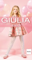 Колготки Giulia Jiuley (1) 20 Den 140-146 см Bianco (4823102966144) - изображение 1