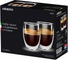 Набор чашек Ardesto с двойными стенками для латте 400 мл х 2 шт (AR2640G) - изображение 1