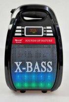 Колонка комбик Golon Bluetooth mp3 радиомикрофон пульт цветомузыка Golon RX-810 BT - изображение 3