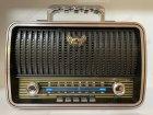 Акумуляторний радіоприймач колонка Kemai Retro (MD-1909BT) з Bluetooth і USB Black - зображення 1