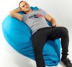 Крісло мішок груша 150х100 см Блакитний - зображення 3