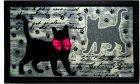 Придверний килимок IzziHome Italyan Format Siyah Kediler 40x68 (2200000541994) - зображення 1