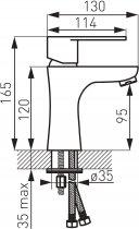 Смеситель для раковины FERRO Algeo Black BAG2BL - изображение 2