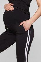 Спортивні штани з лампасами для вагітних Lullababе Lublin S Чорний - зображення 4