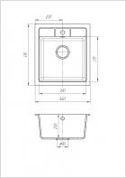 Кухонная мойка Cora Флора Черная - изображение 2