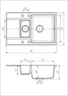 Кухонная мойка Cora Венера Черная - изображение 2