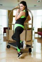 Спортивний костюм ISSA PLUS 1610 S Чорний з салатовим (2000000047614) - зображення 2