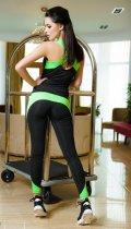 Спортивний костюм ISSA PLUS 1610 S Чорний з салатовим (2000000047614) - зображення 3
