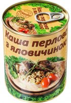 Каша перлова з яловичиною L'appetit 340 г (4820177070257) - зображення 1