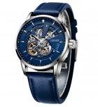 Мужские классические механические часы Oubaer Night Blue 8902 - изображение 3
