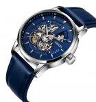 Мужские классические механические часы Oubaer Night Blue 8902 - изображение 4