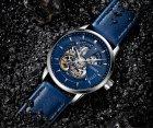 Мужские классические механические часы Oubaer Night Blue 8902 - изображение 5