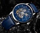 Мужские классические механические часы Oubaer Night Blue 8902 - изображение 6