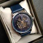 Мужские классические механические часы Oubaer Night Blue 8902 - изображение 12
