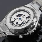 Чоловічий класичний механічний годинник Winner Action Silver 1535 - изображение 6