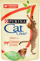 Упаковка влажного корма для кошек Purina Cat Chow Adult с говядиной и баклажанами 85 г x 24 шт (7613036595032) - изображение 2