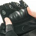 Тактические перчатки митенки с открытми пальцами и усиленным протектором косточек Mechanix (18171/1) Черный - изображение 8