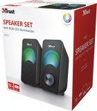 Акустическая система Trust Arys Compact RGB 2.0 Speaker Set Black (23120) - изображение 4