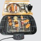 Гриль барбекю шашлычница электрический для дома и дачи 48x29,5см BaBaLe 2000Вт Черный - изображение 8