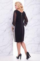 """Платье """"Вирджиния"""" (черный) 52 (XXL) - изображение 3"""