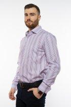 Рубашка классического покроя Time of Style 120PAR036 41-42 Фиолетовый/белый - изображение 3