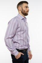 Рубашка классического покроя Time of Style 120PAR036 41-42 Фиолетовый/белый - изображение 4