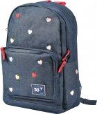 Рюкзак молодежный YES T-67 Hearts женский 0.4 кг 32x41x13 см 17 л Синий (558279) - изображение 2