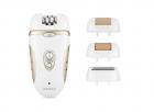 Эпилятор Rozia Белый женский с 4 насадками + подарочная упаковка HB-6007 - изображение 2