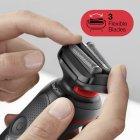 Електробритва BRAUN Series 5 50-R1000s BLACK/RED - зображення 5