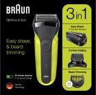 Електробритва BRAUN Series 3 300BT black/green - зображення 9