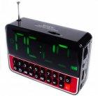 Настільні годинники з радіо і будильником акумуляторні WSTER WS-1513 Black - зображення 2
