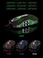 """Мышь игровая Jason JS-X9 Brown 9D оптическая 2400DPI """"дышашяя"""" 4х цветная LED подсветка - изображение 6"""